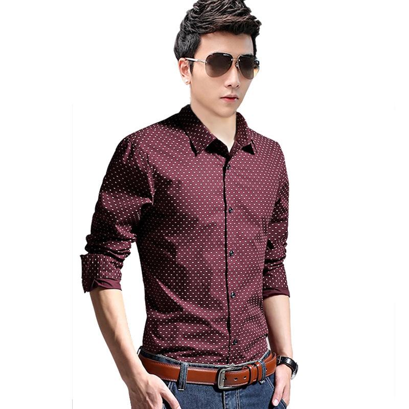 Slim fit men shirt Mens floral shirts fashion 2016 long sleeve casual dress shirts(China (Mainland))