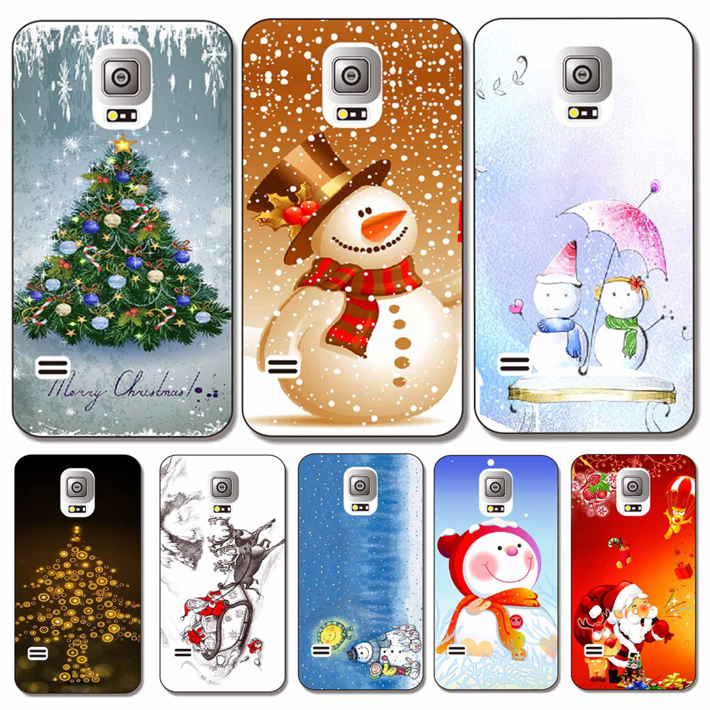 Festival Christmas Patterns Phone Case Samsung Galaxy S6 Snowman Tree Santa claus styles hard cover - foriphonecase store