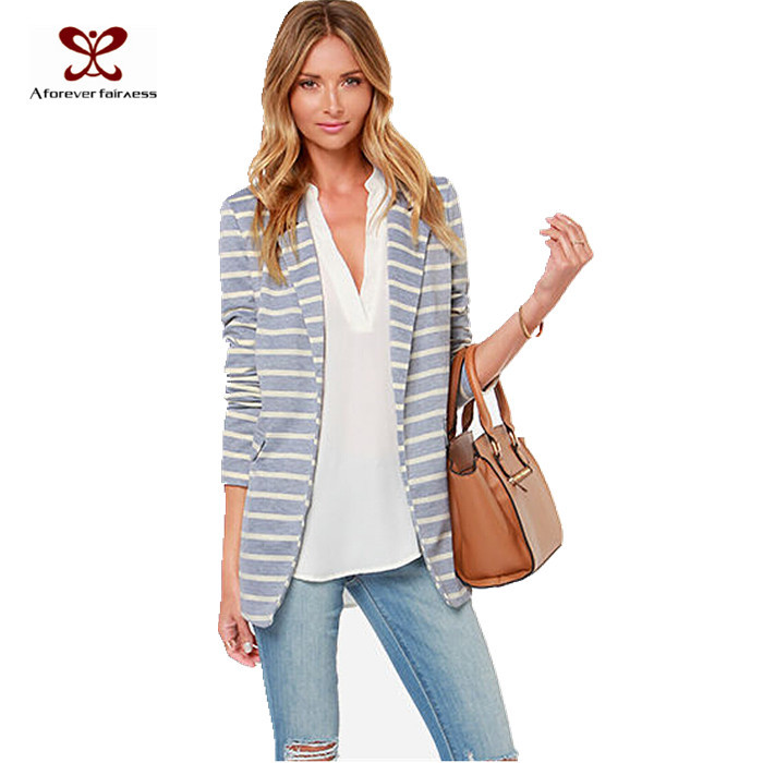Casual Grey Blazer Womens Women Casual Blazer Long