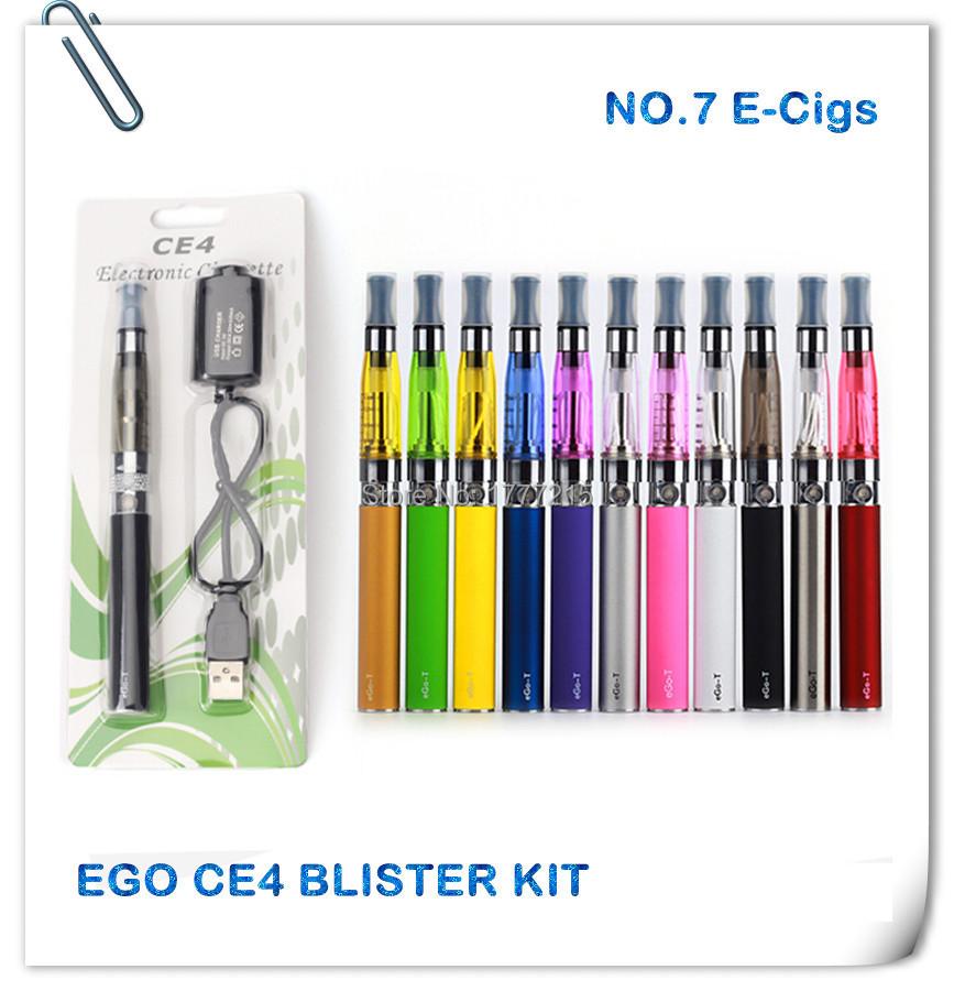 Ego CE4 e Electronic Cigarette Blister Kits New Arrival Multicolor Ego CE4 E Cigarette 650/900/1100mAh Electronics Vape pen(China (Mainland))