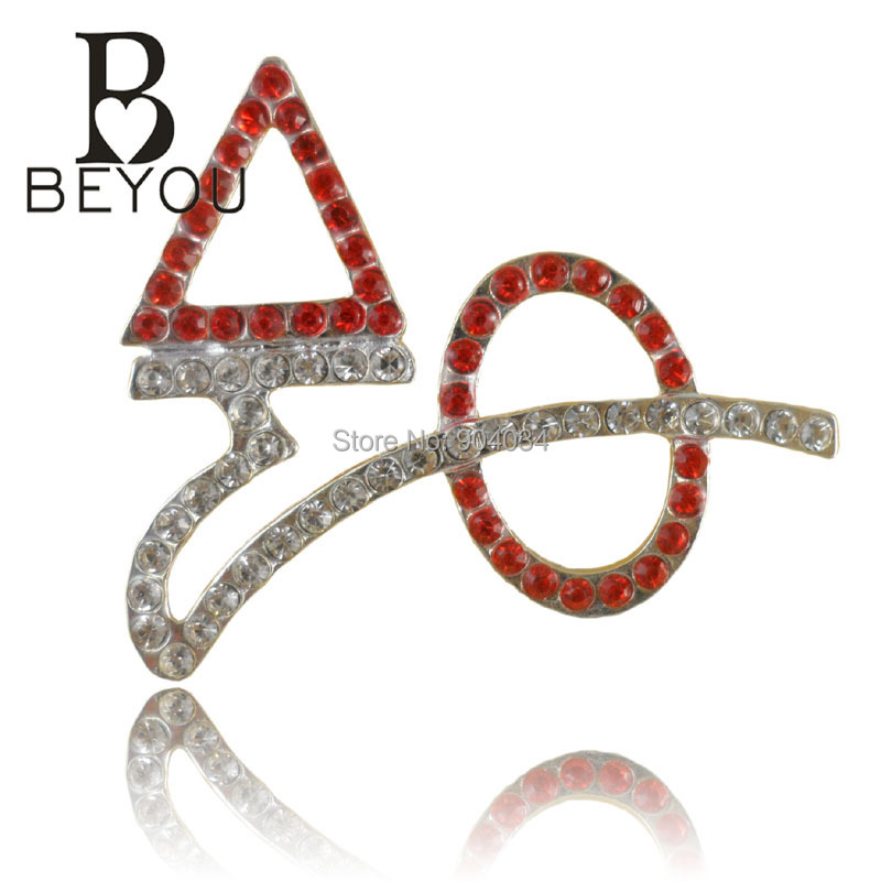 Free shipping 2015 newest delta sigma theta crystal brooch for Delta sigma theta jewelry