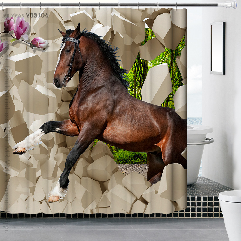 Online kopen wholesale shower curtain zebra uit china shower ...