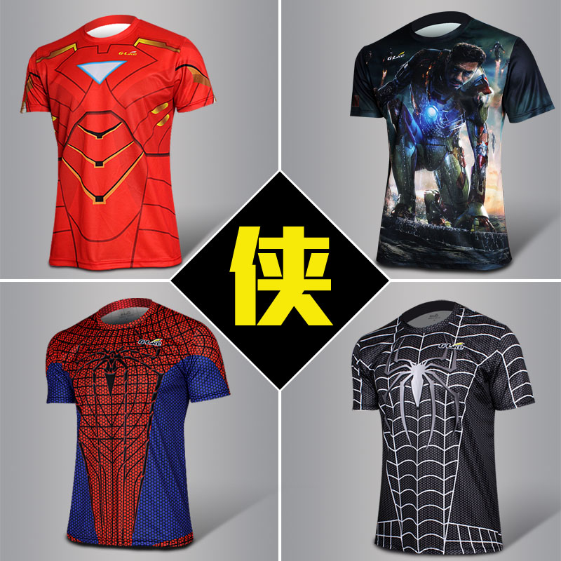 Iron man 3 short sleeve t shirt novelty iron men short for Iron man shirt for men