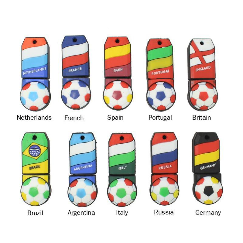 soccer usb flash drive National team pen drive cool usb stick Russia flash card 16gb pendrive 8gb 2G 4G thumbdrives(China (Mainland))