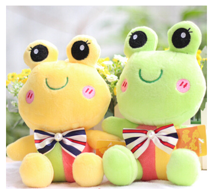1 piece 12cm sit tall lovely Frog Plush toys, holiday gifts(China (Mainland))
