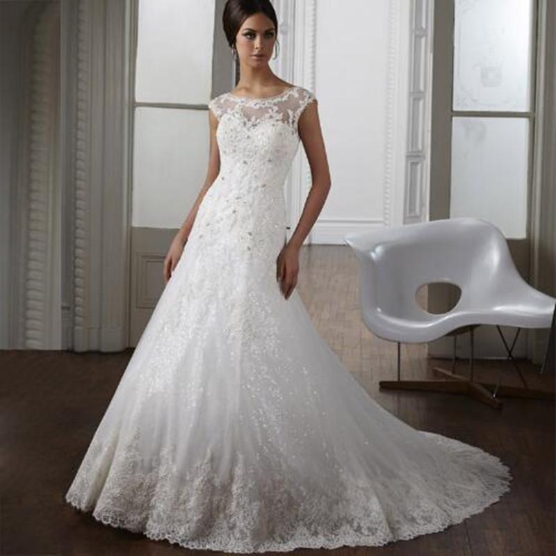 2016 кружева русалка свадебные платья само лучших белые vestido novia