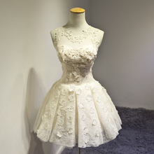 Bridal Wedding Dress Pastel Champagne Short Wedding Dress Puffy Princess Wedding Gown Cute Wedding Dressvestido de noiva curto(China (Mainland))