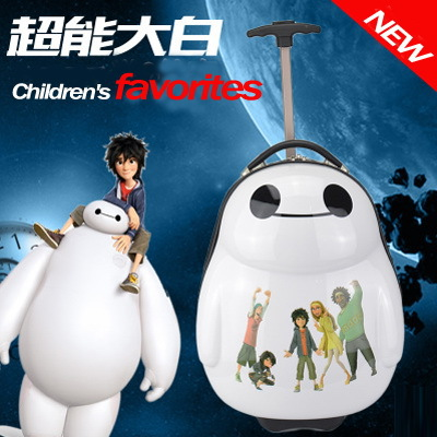 17Inch Travel 3D stereo Tourism Pull rod box boy girl Children Luggage suitcase School Bag On Wheels Travel Bags children gift<br>