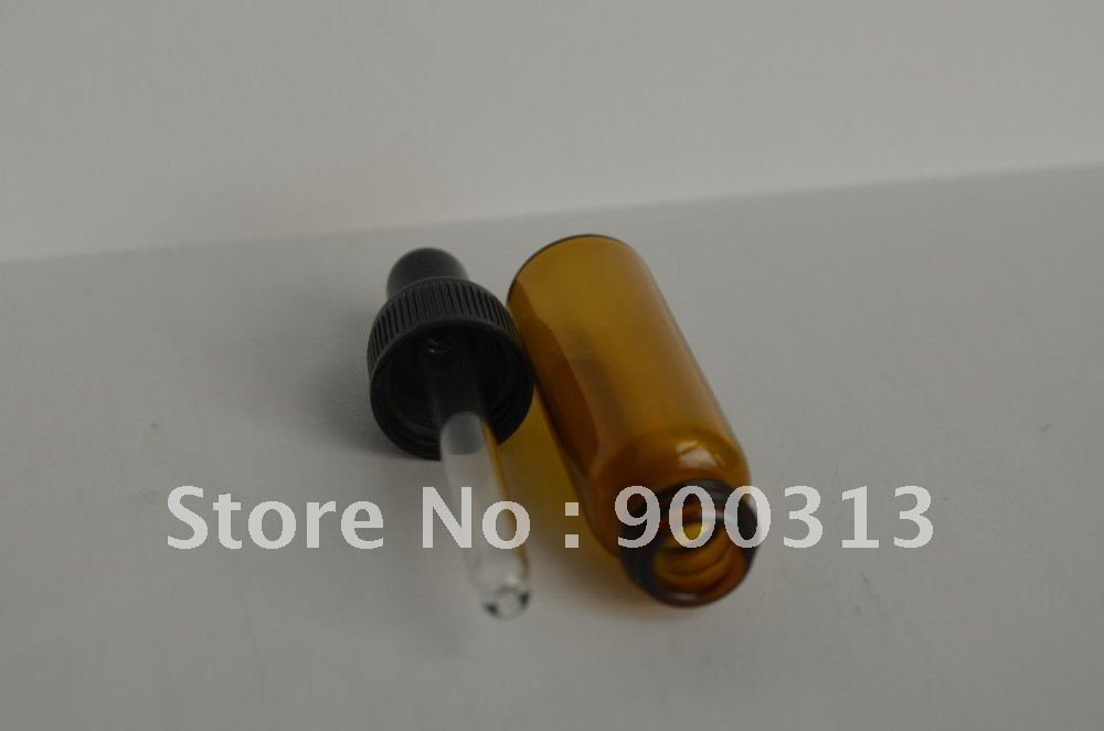 (Min order$10) 10 PCS NEW AMBER GLASS EYE DROPPER BOTTLE/VIALS (5ml) ESSENTIAL OIL BOTTLE(China (Mainland))