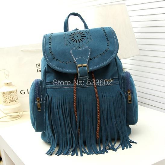 Кисточкой рюкзак старинные шнурок замши рюкзак сумки для женщин mochila feМиниna ...