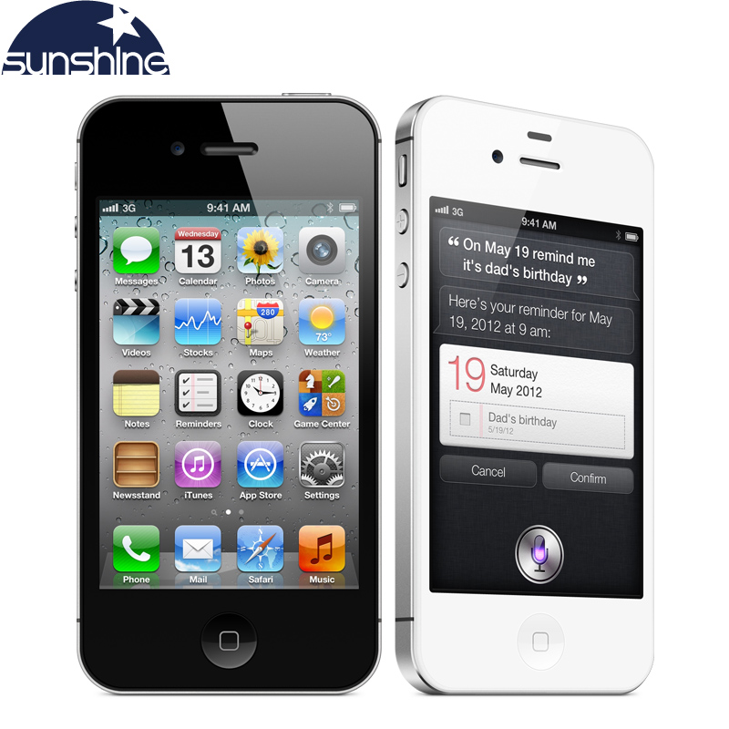 "iPhone4s Original Unlocked Apple iPhone 4S Used Phone 3.5""IPS Smartphone 512 MB RAM 16/32GB Mobile Phone 8MP Cell Phones(China (Mainland))"
