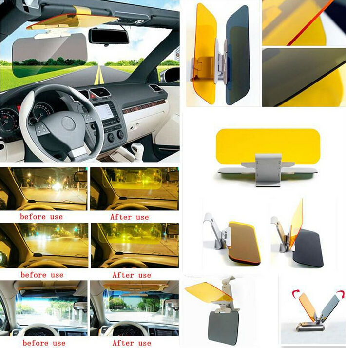 Car Auto  Dazzling Goggle Day and Night Vision Mirror Sun Visors Free Shipping