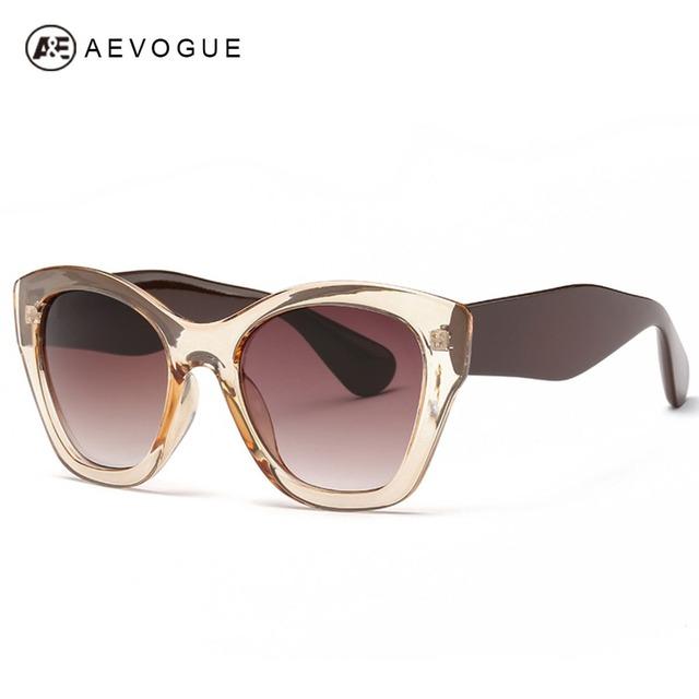 Aevogue новые бабочки марка очки мода солнцезащитные очки женщины горячая распродажа солнцезащитные очки высокое качество óculos UV400 AE0187