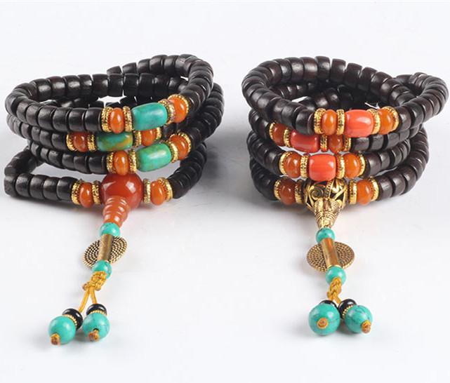8mm 108 natural sandalwood Tibetan Buddhist mala prayer beads bracelet lover couple bracelet buddha meditation bracelet(China (Mainland))