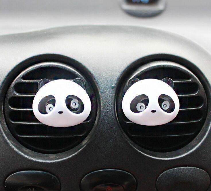 Air Freshener Car Air Conditioning Vent Perfume Panda for VW Golf 6 Tiguan Magotan Sagitar CC Passat AUDI A4L A6L Q5 A1 A3 A5 A8(China (Mainland))