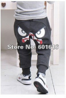Free Rushed Top Fasion Freeshipping Terry Dot Loose Cotton Low Shipping!! 2014 Kids Casual Long And Boys Pants Trousers(retail)