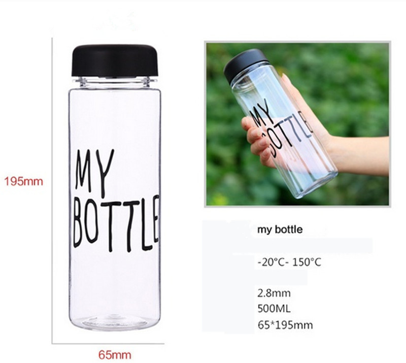 My Bottle With Gift Bag 500Ml Fashion Sport My bottle lemon juice readily cup space cup water bottles Free Shipping(China (Mainland))