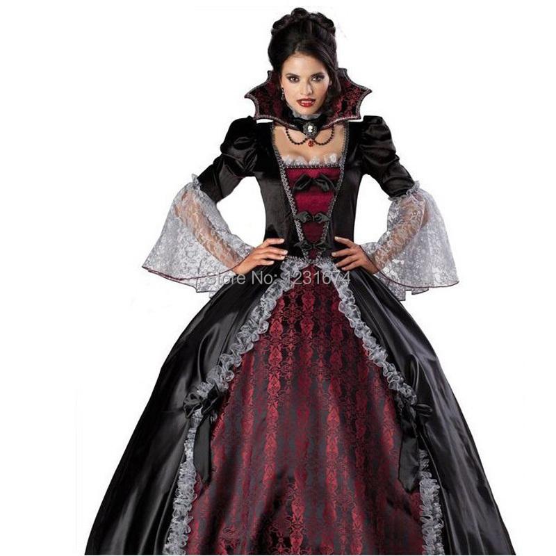 Women 39 s vampire zombie costumes classic halloween cosplay costume for women dark ghost bride - Costume vampire femme ...