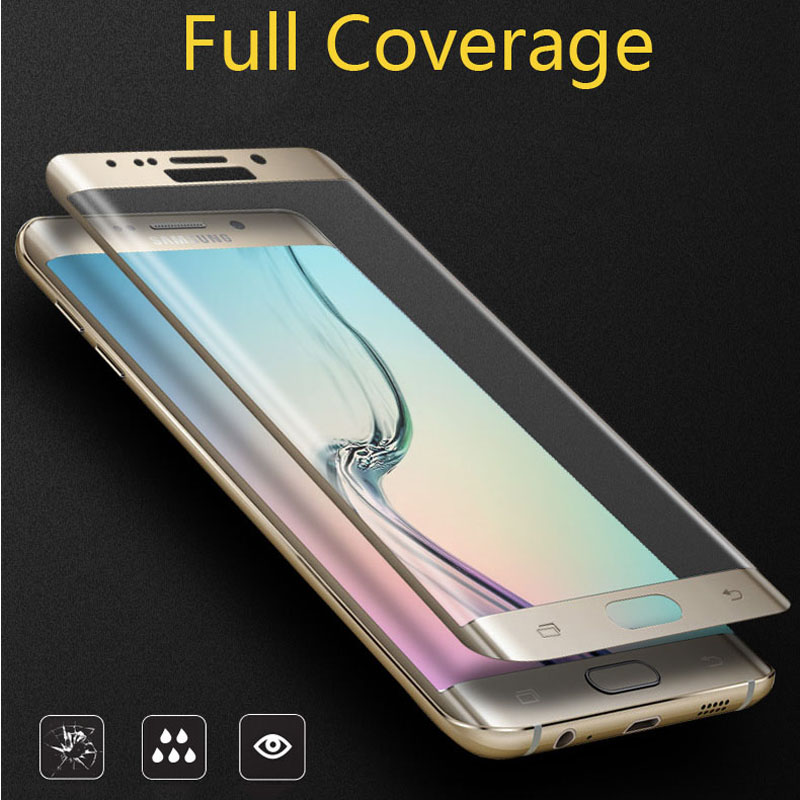 For Samsung Galaxy S7 edge Full Coverage Curved 3D Ultra Thin Tempered Glass Screen Protector For Galaxy S6 Edge S6 Edge Plus