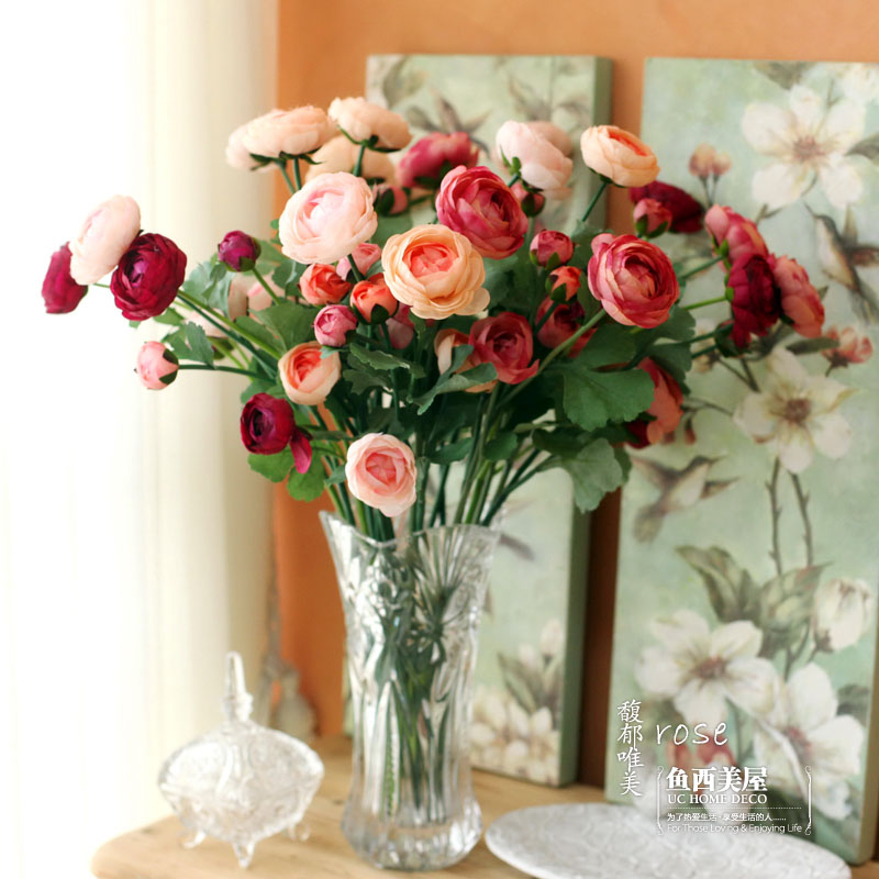 Buy free shipping 10pcs fish smile rose for Artificial flower for decoration