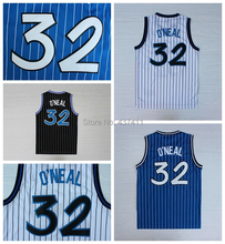 Orlando #32 Shaquille O'neal White Blue Black Strips Jerseys,Rev 30 Basketball jersey ,Size:S-XXL, Free Shipping