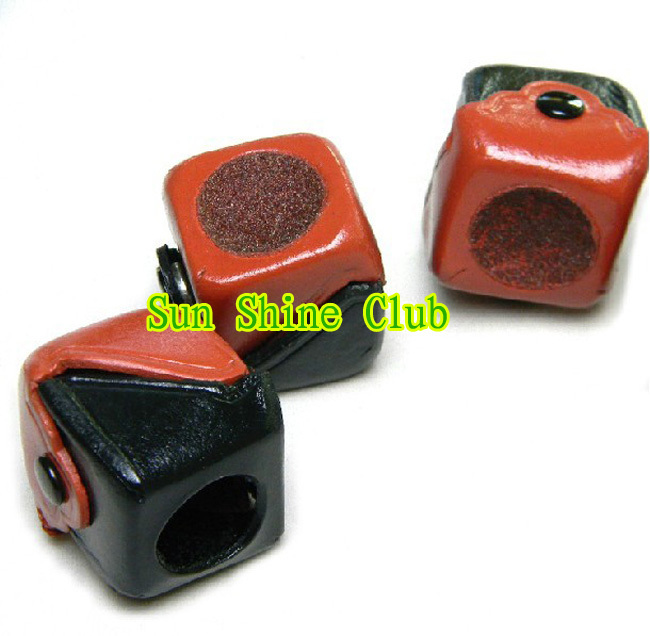 Free shipping!!! 3pcs/lot Billiards &snooker leather chalk holder+tip sander/hot sales billiard accessories(China (Mainland))