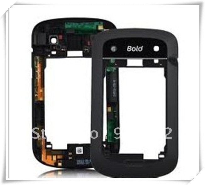 BOLD 9900 BLACK MIDDLE FRAME FACEPLAT CHASSIS BACK COVER LENS 15PCS(China (Mainland))