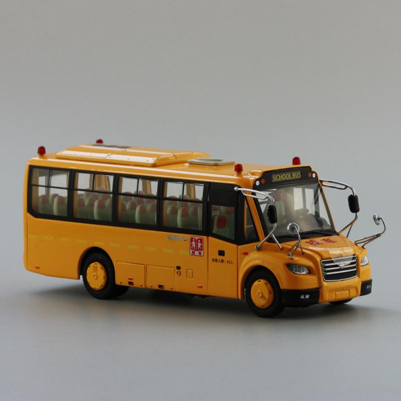 1:43 Original model car zhongtong bus the American school bus zhongtong coach bus simulation model(China (Mainland))