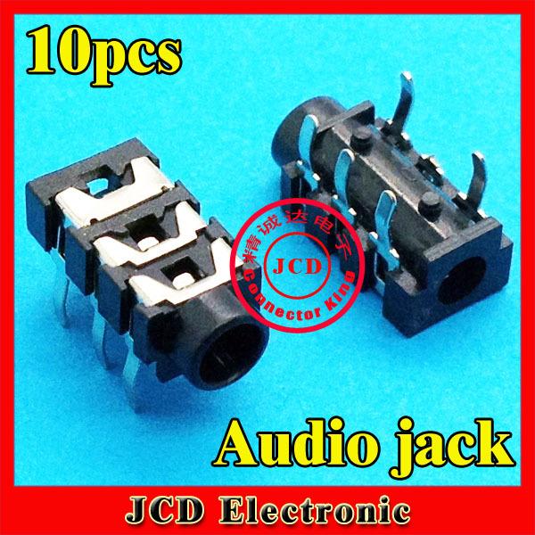 DIP type 5pin 10pcs/lot Common Laptop mobile phone Audio jack 3.5mm Headphone Jack Audio Socket AU-075(China (Mainland))