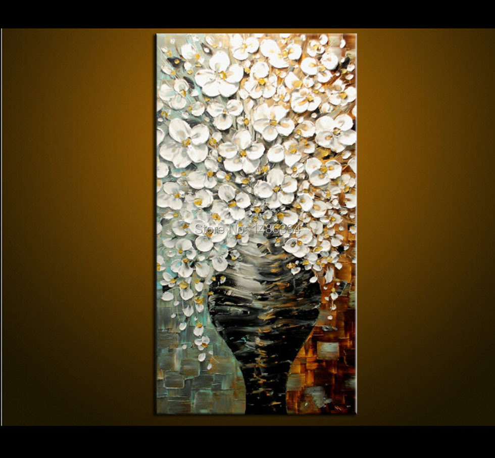 Hoge kwaliteit moderne acryl schilderen bloemen koop goedkope ...