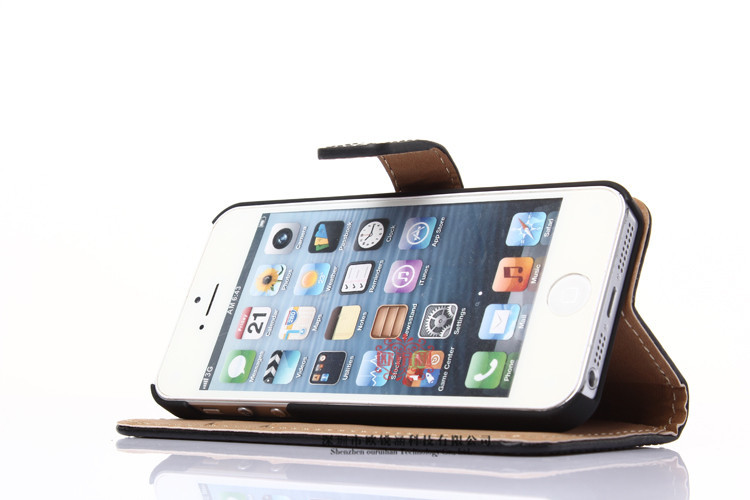 Luxury Leather Cases for iPhone 5s iphone 5 case Original capa fundas for Apple iphone 5S case 5 With Card Holder Stand Coque