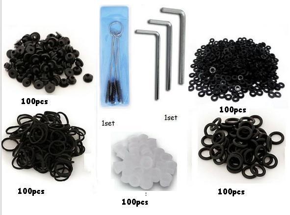 100#9 Ink Caps 100 nipples 100 rubber bands 100 O-ring 100 washers adjust parts kit 7 kinds packing kit(China (Mainland))