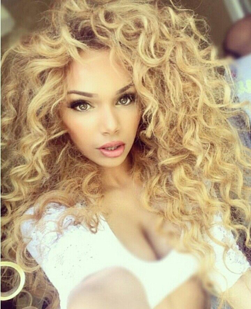 Curly Hair Weave Blonde Remy Indian Hair