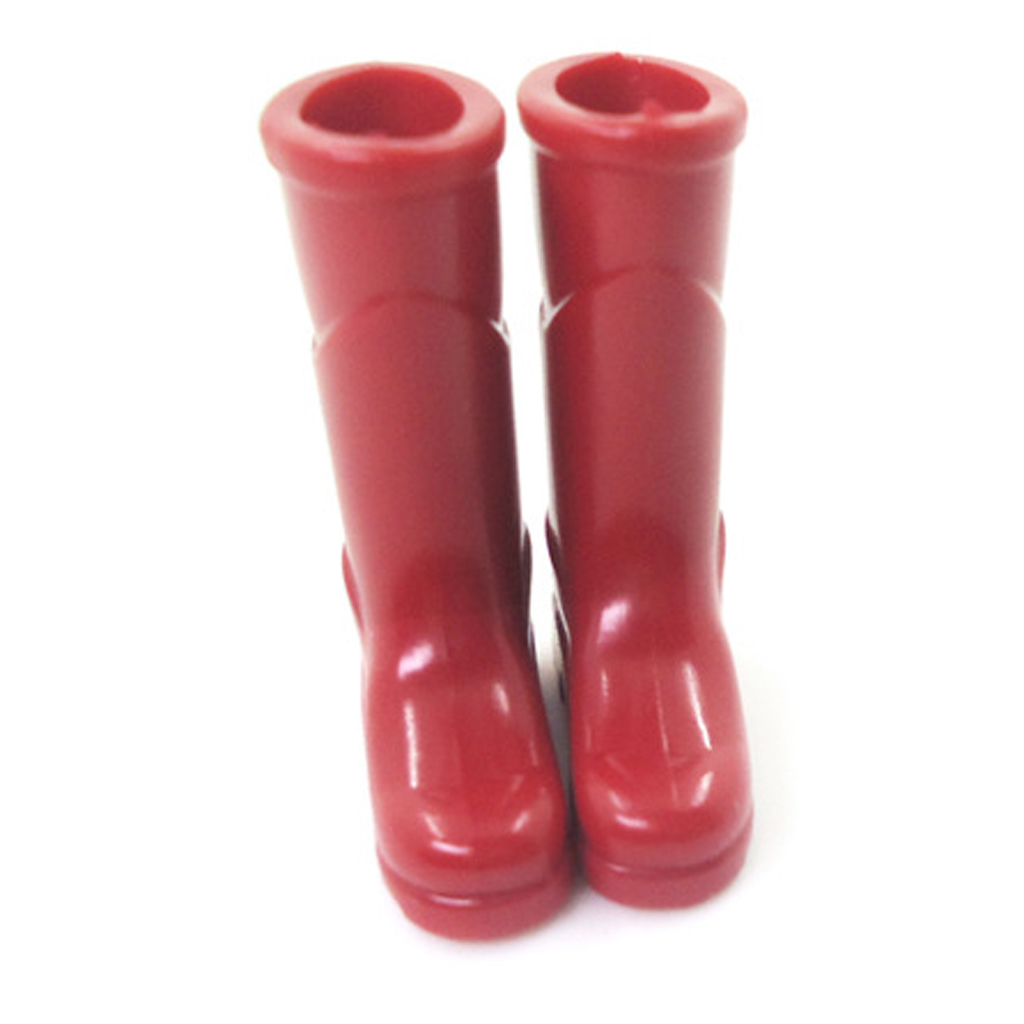 1/12 Dollhouse Miniature Red Rubber Rain Boots Home Garden Yard Decor Great for your dolls house garden decoration