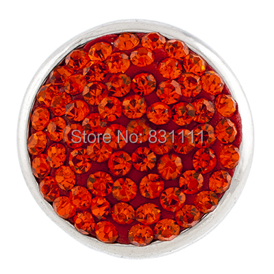 NSB1215 Snap Jewelry 20mm Button Bracelet DIY Findings Full Crystal Bright Colors Snaps Charms - Magic Store store