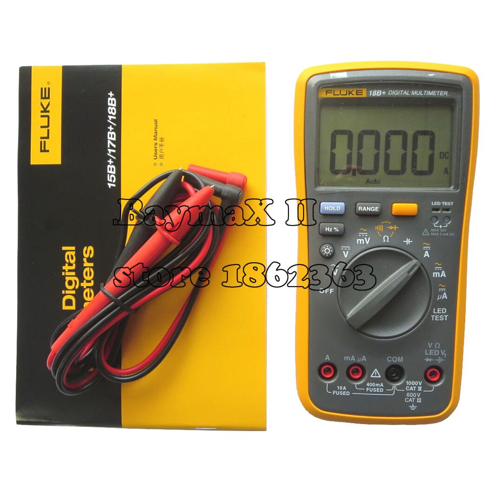 FLUKE 18B+ AC/DC Voltage,Current,Capacitance,Ohm Auto/Manual Range Digital multimeter with LED Test