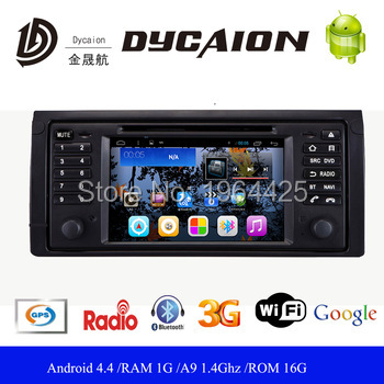 Car gps navigation for bmw e39 dvd player android for BMW 5 Series E39 X5 E53 M5 with BT USB AUX WIFI Audio Video Stereo(China (Mainland))