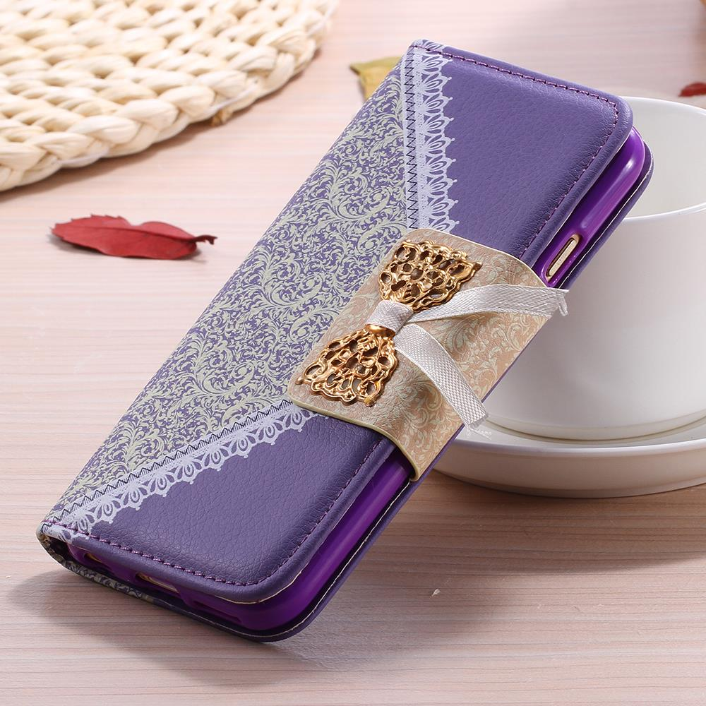 i6/i6 Plus Flip Leather Case Fashion Women Lady Long Chain Wallet Phone Case For iPhone 6/6 Plus Stand Card Holder Holster Cover(China (Mainland))