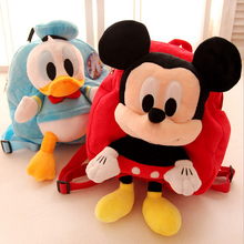 Buy Hot Sale Cartoon Plush Toy Mickey Minnie Danald Duck Stitch Pig Schoolbag Kids Baby Backpack Birthday Gift for $13.30 in AliExpress store