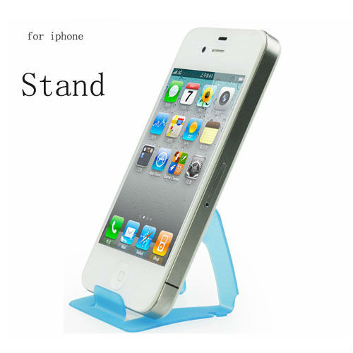 1pcs/lot Namecard shape Foldable Mobile phone Holder Stand & Cable winder 2 in 1 For Samsung / iphone 4 4S 5 free shipping