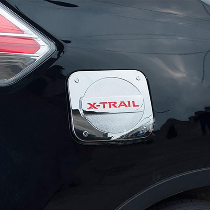 Купить Для 2014 2015 2016 Nissan X-Trail X Trail X-Trail Хром Крышки бака Бака Крышка Газовой Шапки Красный/Черный/Серебристый Логотип Стайлинга Автомобилей аксессуар