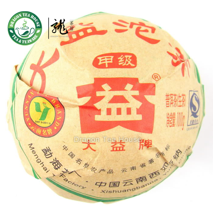 Jia Ji Tuo Cha Menghai Dayi Pu erh Tea 2009 100g Raw