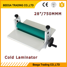 Wholesale Cold Laminator All Metal Frame 750mm Manual Laminating Machine Photo Vinyl Protect Rubber(China (Mainland))