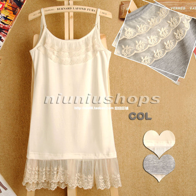 2013 summer women's sweet bohemia all-match lace decoration solid color slim spaghetti strap vest