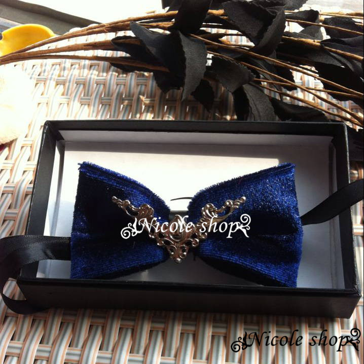 Angel Wings leisure noble shades of blue velvet bow wings accessories groom hosted a dinner Fashion design creativity 005879(China (Mainland))