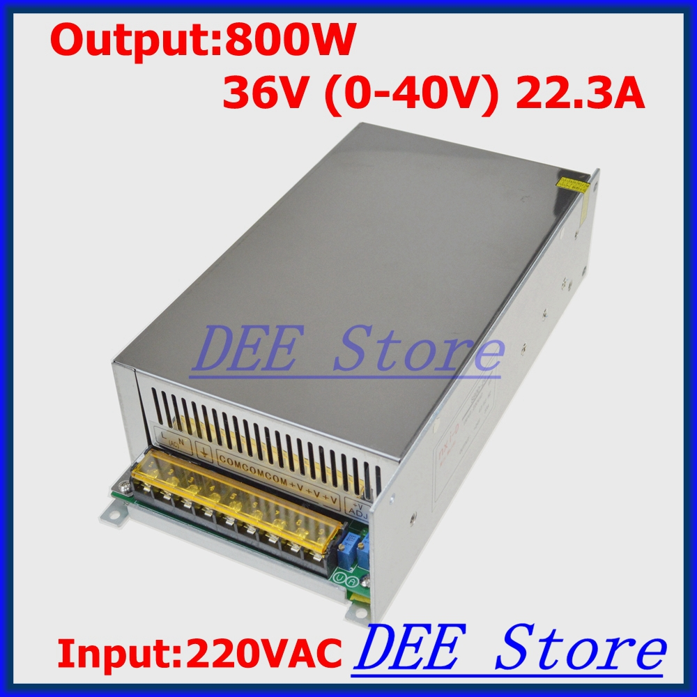 Фотография Led driver 800W 36V(0-40V) 22.3A Output Transformer Adjustable ac 220v to dc 36v Switching power supply unit for LED Strip light
