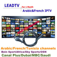 1 month Leadtv Arabic IPTV with Arabic French channels MBC Beinsport Canal plus 400+ channels free 24 hours test(China (Mainland))