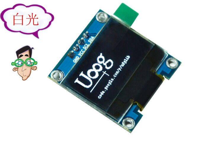 Free shipping white and blue color inch oled