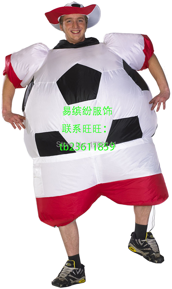 inflatable soccer football costume 2016 U E F A European Championship soccer fans costume National football game Poland team(China (Mainland))
