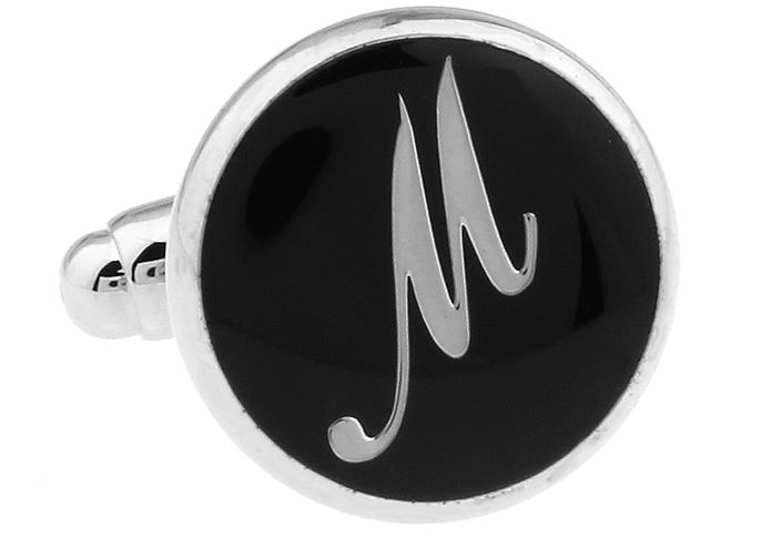Men Cufflinks Custom Wedding Cufflinks Gift Letters Shirt Cufflinks Custom a Best Gift The letter M 168490